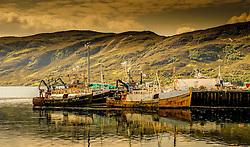 Fishing boats in the harbour at Ullapool, Wester Ross, Scotland<br /> <br /> (c) Andrew Wilson | Edinburgh Elite media