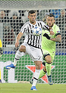 Stefano Sturaro of Juventus and Nicolas Otamendi of Manchester City during the UEFA Champions League match at Juventus Stadium, Turin<br /> Picture by Stefano Gnech/Stella Pictures Ltd +39 333 1641678<br /> 25/11/2015