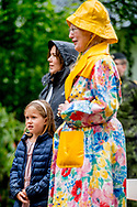 16-7-2017 GRASTEN DENMARK - Queen Margrethe ,  Crown Prince Frederik and Crown Princess Mary attended with children Prince Christian Princess Isabella, Prince Vincent and Princess Josephine a horse parade at Grasten Slot during the horse parade  copyright Robin utrecht <br /> <br /> 16-7-2017 GRASTEN DENEMARKEN - Koningin Margrethe, Kroonprins Frederik en Kroonprinses Mary, aanwezig met kinderen Prins Christelijke prinses Isabella, Prins Vincent en Prinses Josephine een paardparade bij Grasten Slot tijdens het paarden parade Robin utrecht
