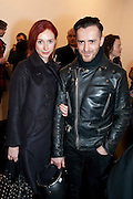 KINDER AGGUGINI; NATALIE HAND, 'Engagement' exhibition of work by Jennifer Rubell. Stephen Friedman Gallery. London. 7 February 2011. -DO NOT ARCHIVE-© Copyright Photograph by Dafydd Jones. 248 Clapham Rd. London SW9 0PZ. Tel 0207 820 0771. www.dafjones.com.