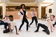 "Town of Wallkill, New York - Port Jervis High School students perform a sample of the musical ""Grease"" in the 2018 All-County Musical Showcase and Visual Arts Display at the Galleria at Crystal Run on Feb. 24, 2018."