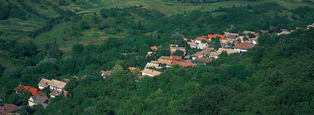 Hongrie, Comitat de Nograd, Village de Holloko, patrimoine mondial de l'Unesco. // Hungary, Nograd province, holloko village, Unesco world heritage.