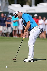 September 21, 2018 - Atlanta, Georgia, United States - Jon Rahm putts the 9th green during the second round of the 2018 TOUR Championship. (Credit Image: © Debby Wong/ZUMA Wire)