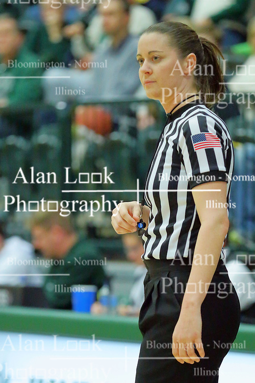 06 December 2017:  Referee Rachel Lenz during an NCAA women's basketball game between the Wheaton Thunder and the Illinois Wesleyan Titans in Shirk Center, Bloomington IL