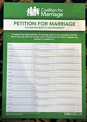 © Licensed to London News Pictures. 20/02/2012, London, UK. The 'Petition for Marriage'.George Carey, former Archbishop of Canterbury, attends the launch of a new campaign against same sex marriage today, 20 February 2012. Colin Hart, campaign director of the Coalition for Marriage, who have published a report saying the British public reject gay marriage, chaired a press conference at One Great George Street, Westminster. Photo credit : Stephen Simpson/LNP