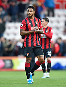 Joshua King (7) of AFC Bournemouth applauds the fans at full time during the Premier League match between Bournemouth and Norwich City at the Vitality Stadium, Bournemouth, England on 19 October 2019.