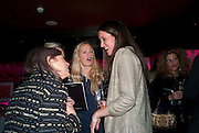 ASTRID HARBORD; INDIA LANGTON, Bitch- Auction and fundraiser for the dog charity Care. The Cuckoo Club, London. 7 December 2010. -DO NOT ARCHIVE-© Copyright Photograph by Dafydd Jones. 248 Clapham Rd. London SW9 0PZ. Tel 0207 820 0771. www.dafjones.com.