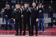 Arbitri<br /> Virtus Roma - Remer Blu Basket Treviglio<br /> Campionato Basket LNP 2018/2019<br /> Roma 23/12/2018<br /> Foto Gennaro Masi / Ciamillo-Castoria