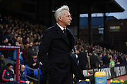 Alan Pardew looks relaxed ahead the Barclays Premier League match between Crystal Palace and Southampton at Selhurst Park, London, England on 12 December 2015. Photo by Michael Hulf.