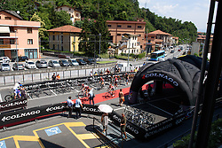 Lotto Soudal complete the sign in protocols in Costa Volpino at Giro Rosa 2016 - Stage 4. A 98.6 km road race from Costa Volpino to Lovere, Italy on July 5th 2016.