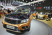 BEIJING, CHINA - APRIL 25: (CHINA OUT) <br /> <br /> A BAIC Motor X55 sports utility vehicle (SUV) is on display at the Beijing International Automotive Exhibition on April 25, 2016 in Beijing, China. <br /> ©Exclusivepix Media