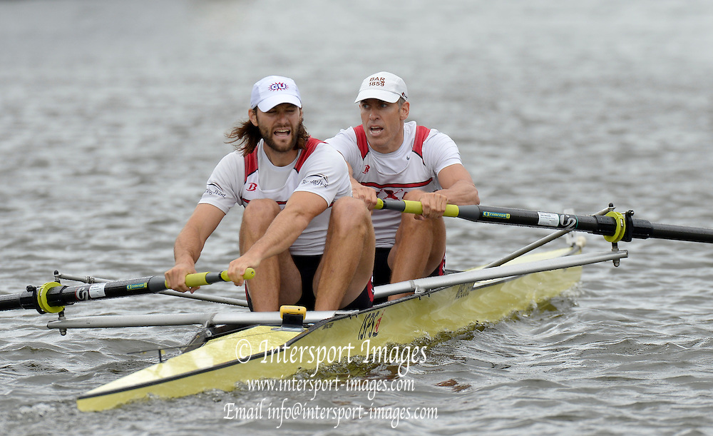 Henley, GREAT BRITAIN,  Silver Goblets and Nickalls' Challenge cup.  USA M2-, Bow Jamie KOVEN and Mike BLOMQUIST.  2012 Henley Royal Regatta. Friday  11:26:38  29/06/2012. [Mandatory Credit, Peter Spurrier/Intersport-images] ..Rowing Courses, Henley Reach, Henley, ENGLAND . HRR.