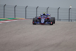 October 20, 2018 - Austin, USA - Toro Rosso Honda driver Pierre Gasly (10) of France rounds Turn 1 during the third practice session at the Circuit of the Americas in Austin, Texas on Saturday, Oct. 20, 2018. (Credit Image: © Scott Coleman/ZUMA Wire)