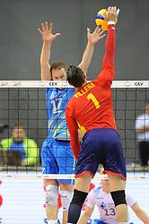 Tine Urnaut, Andres J. Villena during the European Championship game Spain - Slovenia on August 24, 2017 in Krakow, Poland. (Photo by Krzysztof Porebski / Press Focus)