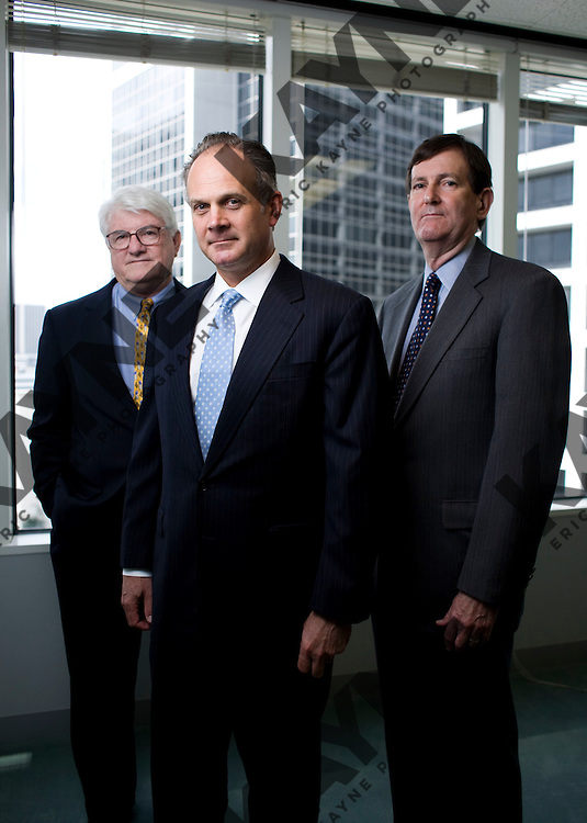 From left, David Elkins, David Lummis and Platt Davis. Story is about hundreds of heirs of Howard Hughes have a claim against mall owner General Growth Properties Inc. in the mall owner?s bankruptcy case. Oct. 8, 2009 in Houston, TX. CREDIT: Eric Kayne for The Wall Street Journal.