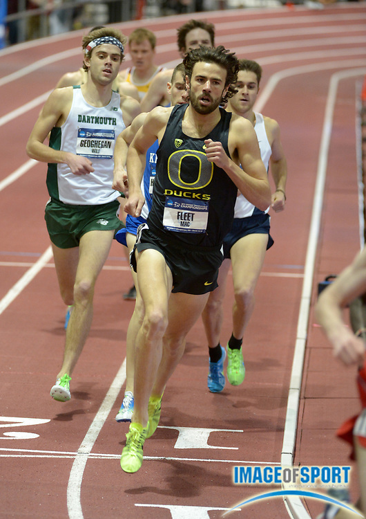 Mar 15, 2014; Albuquerque, NM, USA; Mac Fleet places third in the mile in the 2014 NCAA Indoor Championships at Albuquerque Convention Center.