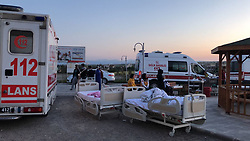 A magnitude-5.1 earthquake struck Samsat district in Turkey's southeastern province of Adıyaman early April 24, 2018. The quake struck at 3:34 a.m. (00:34 GMT) at a depth of seven kilometers, the Turkish Prime Ministry's Disaster and Emergency Management Authority (AFAD) announced. Samsat district governor Sedat Sezik told the earthquake was felt in neighboring cities, adding that search and rescue activities have begun in the province as AFAD teams are reaching the quake site. Following the quake, eight aftershocks with magnitudes ranging from 1.4 to 2.7 were experienced within an hour. Some buildings in nearby villages and districts were damaged, and Sezik said the quake was felt in other southeastern provinces such as Şanlıurfa, Gaziantep and Diyarbakır. Photo by Mahir Alan/Dha/Depo Photos/ABACAPRESS.COM