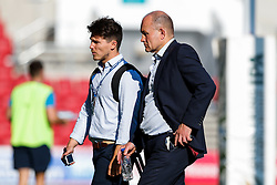 Bristol Rugby Director of Rugby Andy Robinson with Head of Communications Tom Tainton after Bedford Blues win the match 23-29 - Mandatory byline: Rogan Thomson/JMP - 07966 386802 - 06/09/2015 - RUGBY UNION - Ashton Gate Stadium - Bristol, England - Bristol Rugby v Bedford Blues - Greene King IPA Championship.