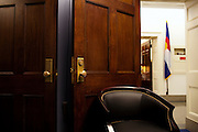 The new office of Freshman Congressman Adam Kinzinger, 32, (Republican, Illinois) after he is sworn in to office at the United States Capital in Washington, DC on Wednesday, January 5, 2011. He will be a member of the 112th Congress, and represents the 11th Congressional District.