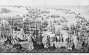 The mighty display of the Spanish armada in 1588.    Source Amsterdams Historisch Museum. A46643   Date 1679(1679)