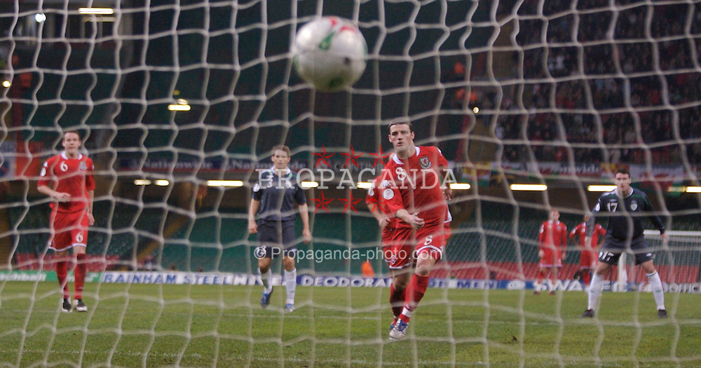 CARDIFF, WALES - Saturday, November 17, 2007: Wales' Jason Koumas scores the equalising goal from the penalty spot against the Republic of Ireland in the 89th minute during the UEFA Euro 2008 Qualifying Group D match at the Millennium Stadium. (Pic by David Rawcliffe/Propaganda)