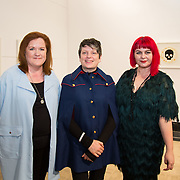 23.03.16<br /> LSAD are delighted to host SYMBOLS: Culture of Death and Cultural Life, a Creative Europe Project under the European Commission. <br /> <br /> Attending the exhibition were, Jennifer Moran Stritch, Sinead Dineen and Dr. Tracy Fahey, Head of Department of Fine Art, LSAD.<br /> <br /> LSAD are one of the seven partners in this Creative Europe project which is running from 2014-2016. This exhibition will feature work from international printmakers, dancers and musicians from 7 European countries. This show embraces not only the work created by these artists during two residencies responding to the theme of symbols, one in Aviles, Spain and one in Dundee Scotland and includes work by Limerick artists, musicians and dancers, Gemma Dardis, Mary O'Dea, Jennifer Brown and Hannah Fahey, but also offers a response by the students of the printmaking department in LSAD to the historic Limerick cemeteries of Mount St. Lawrence and St. John's. The students created an exciting and thought provoking body of work which is showing along side these international artists. Picture: Alan Place/Fusionshooters