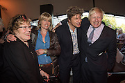 Charlotte Johnson Wahl; Rachel Johnson; Leo Johnson; Boris Johnson, Opening of Photo London,  Somerset House. London. 20 May 2015