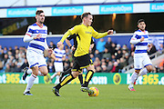 Burton Albion midfielder Lasse Christensen (24) dribbling  into the box during the EFL Sky Bet Championship match between Queens Park Rangers and Burton Albion at the Loftus Road Stadium, London, England on 28 January 2017. Photo by Matthew Redman.
