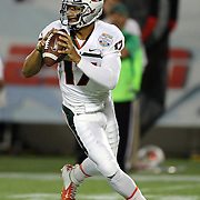 DUPLICATE***Miami Hurricanes quarterback Stephen Morris (17) is seen during the NCAA Football Russell Athletic Bowl football game between the Louisville Cardinals and the Miami Hurricanes, at the Florida Citrus Bowl on Saturday, December 28, 2013 in Orlando, Florida. (AP Photo/Alex Menendez)