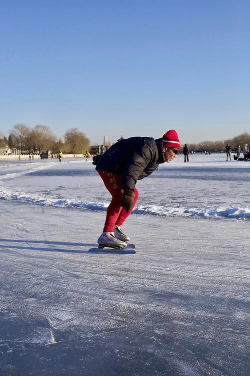 On the Houhai lake, winter 2012. Beijing