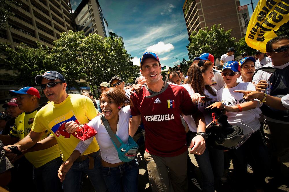 Henrique Capriles Radonski. Venezuela Opposition Candidate.  Presidential Elections 2012.