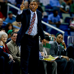 Mar 20, 2013; New Orleans, LA, USA; Boston Celtics head coach Doc Rivers against the New Orleans Hornets during the first quarter of a game at the New Orleans Arena. Mandatory Credit: Derick E. Hingle-USA TODAY Sports