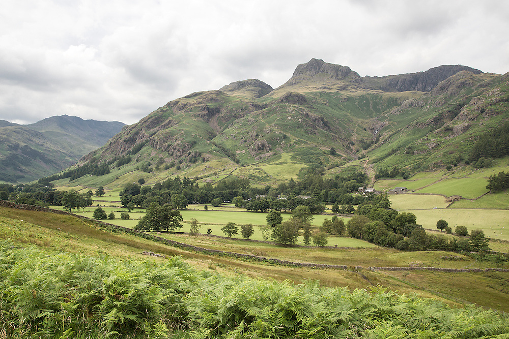 A view of the Langdale Valley in the English Lake District towards Dungeon Ghyll