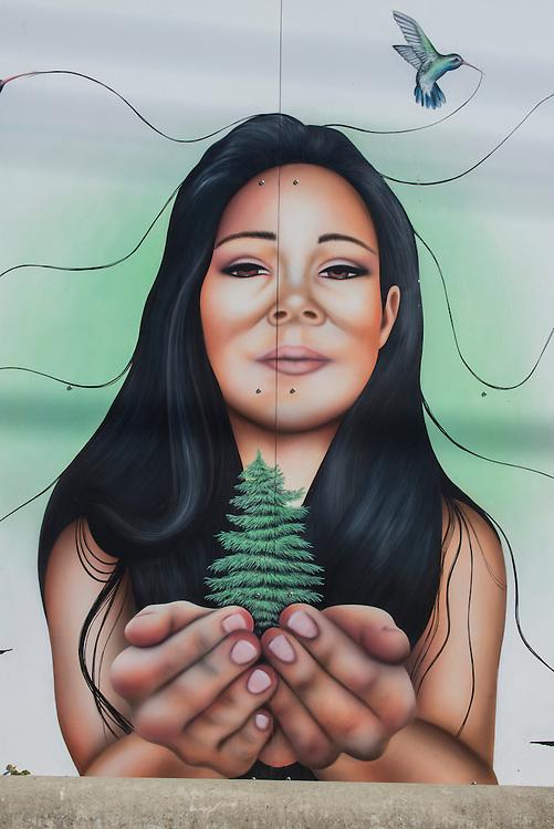 Canada, British Columbia, Vancouver Island, Victoria, mural