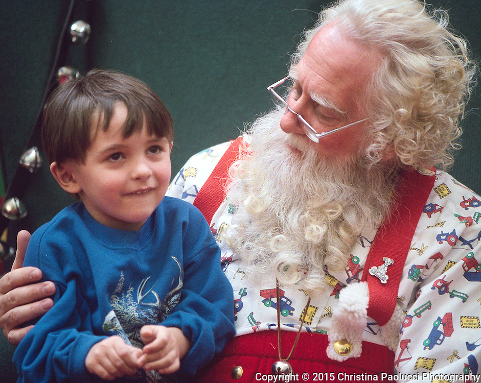 Bryan Hameister,4, asks Santa for a remote control truck for Christmas. Hameister's father is Justin Wendt of Rochester. (Rochester Post-Bulletin,Christina Paolucci)