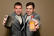 groomsmen with fireball and flask by Tallmadge wedding photographer, Akron wedding photographer Mara Robinson Photography