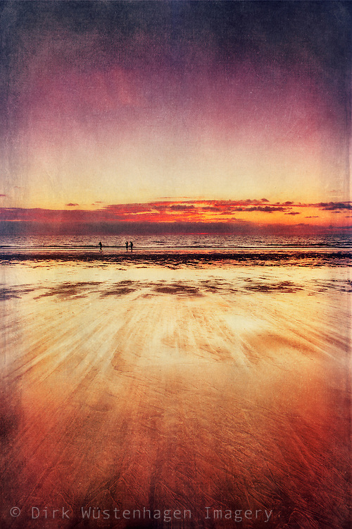 Low angle view of a beach at sunset<br /> <br /> Prints:<br /> http://society6.com/DirkWuestenhagenImagery/blOOd-of-Eden_Print