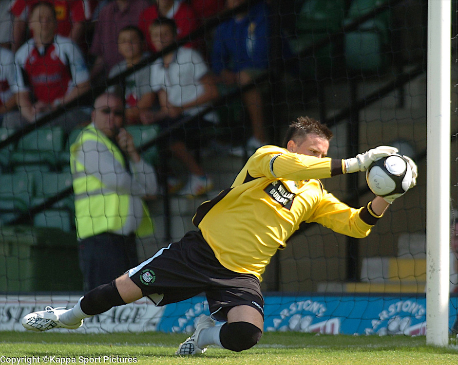 T Burton Goalkeeper, Keeper, Forest Green Rovers, Forest Green Rovers v Kettering Town, Conference, The New Lawn Stadium, Nailsworth, Saturday 8thAugust 2009,<br /> Score 1-2 (Marna 71,81,)
