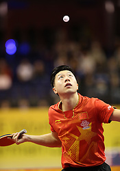 31.01.2016, Max Schmeling Halle, Berlin, GER, German Open 2016, im Bild Long Ma (CHN) bei der Angabe // during the table Tennis 2016 German Open at the Max Schmeling Halle in Berlin, Germany on 2016/01/31. EXPA Pictures © 2016, PhotoCredit: EXPA/ Eibner-Pressefoto/ Wuest<br /> <br /> *****ATTENTION - OUT of GER*****