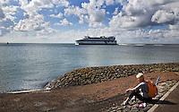 VLIELAND - Veerboot van Doeksen die de veerdienst onderhoudt tussen Harlingen en Vlieland. ANP COPYRIGHT KOEN SUYK