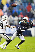 NASHVILLE, TN - NOVEMBER 29:  Harry Douglas #83 of the Tennessee Titans tries to catch a pass while being defended by David Amerson #29 of the Oakland Raiders at Nissan Stadium on November 29, 2015 in Nashville, Tennessee.  The Raiders defeated the Titans 24-21.  (Photo by Wesley Hitt/Getty Images) *** Local Caption *** Harry Douglas; David Amerson