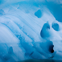 Norway, Svalbard, Spitsbergen Island, Melting iceberg floating near Hans Glacier in Hornsund Sound in Burgerbukta