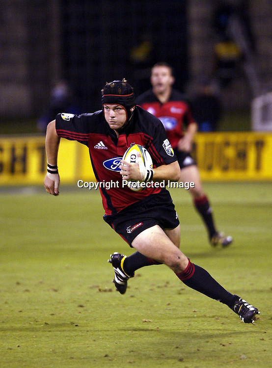 28 February, 2004. Jade Stadium, Christchurch, New Zealand. Rugby Union Super 12. Crusaders v Blues.<br />