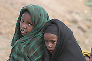 Africa, northern Ethiopia, Lalibela, two local young girls