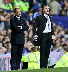 Burnley Manager, Sean Dyche shouts instructions to his players - Photo mandatory by-line: Matt McNulty/JMP - Mobile: 07966 386802 - 18/04/2015 - SPORT - Football - Liverpool - Goodison Park - Everton v Burnley - Barclays Premier League
