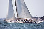 White Wings sailing in the Museum of Yachting Classic Yacht Regatta, race one.