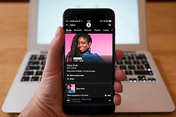 Using iPhone smartphone to display show on BBC Radio 1  Network radio station