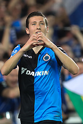 April 19, 2018 - Brugge, BELGIUM - Club's Hans Vanaken celebrates after scoring during the Jupiler Pro League match between Club Brugge and Sporting Charleroi, in Brugge, Thursday 19 April 2018, on day four of the Play-Off 1 of the Belgian soccer championship. BELGA PHOTO BRUNO FAHY (Credit Image: © Bruno Fahy/Belga via ZUMA Press)