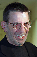 FILE PHOTO: Actor/Director Leonard Nimoy is seen at the opening of his photo exhibition entitled Kabbalah in Black and White at the Gershman YMCA in Philadelphia, November 30, 1999.  Twelve of his photographs are on display until Dec. 20. (Photo by William Thomas Cain/Cain Images)