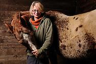 """The 21-year old Daniela Brodmann and her protégé """"Son of Tex"""", named Tex. Daniela Brodmann is an animal keeper on a sanctuary fo rold animals and specially for horses. The 12-year old Appaloosa stallion was, before he came to the sanctuary, a Western horse. By the frequent """"sliding stops"""" (braking at full speed), as these are needed for the Western-competitive riding, make its joints are so worn that it can no longer be ridden. He found shelter at the mercy of the animal rescue charity Freiburg animals and nature eV. Daniela Brodmann characterized as follows her relationship with animals: """"They trust me - I trust them."""" Ehrenkirchen-Scherzingen, Germany / Die 21-jaehrige Daniela Brodmann und ihr Schuetzling """"Son of Tex"""", kurz Tex genannt. Daniela Brodmann ist Tierpflegerin auf einem Gnadenhof, u.a. fuer Pferde. Der 12-jaehrige Appaloosa-Hengst war, bevor er auf den Gnadenhof kam, ein Westernreitpferd. Durch die haeufigen """"sliding stops"""" (Abbremsen aus vollem Galopp), die fuer das Western-Turnierreiten  erforderlich sind, sind seine Gelenke so abgenutzt, dass er nicht mehr geritten werden kann. Er fand Unterschlupf auf dem Gnadenhof des Tierrettungsdienstes Freiburg  Hilfswerk Tier und Natur e.V. Daniela Brodmann charakterisiert ihre Beziehung zu Tieren folgendermassen: """"Sie vertrauen mir - ich vertraue ihnen"""". Ehrenkirchen-Scherzingen, Deutschland"""